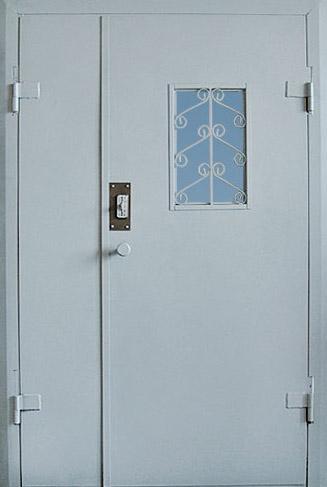 дверь железная для подьезда с окном