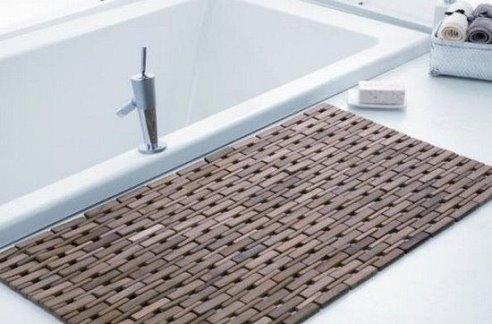 Деревянный коврик для ванной своими руками
